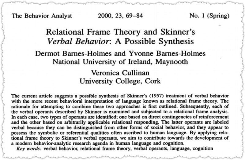 Barnes-Holmes et al. (2000)