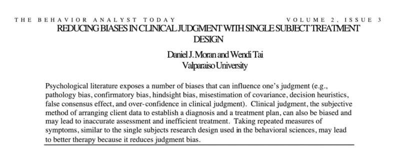 Moran & Tai (2001)